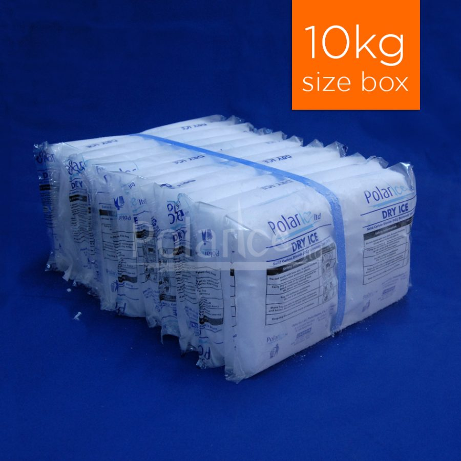10kg pack of dry ice slices