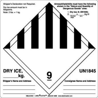 Labels UN1845