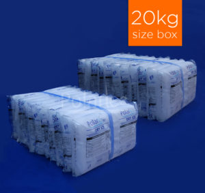 20kg pack of dry ice slices